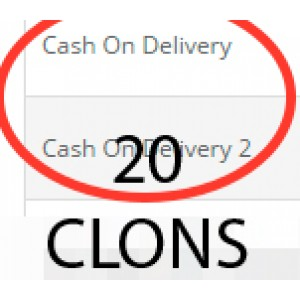 20 клонов оплаты при доставке (cod) для oc2
