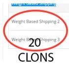 20 клонов доставки в зависимости от веса+ (weight) для OC2