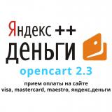 Visa, Mastercard, Я.Деньги для 2.3